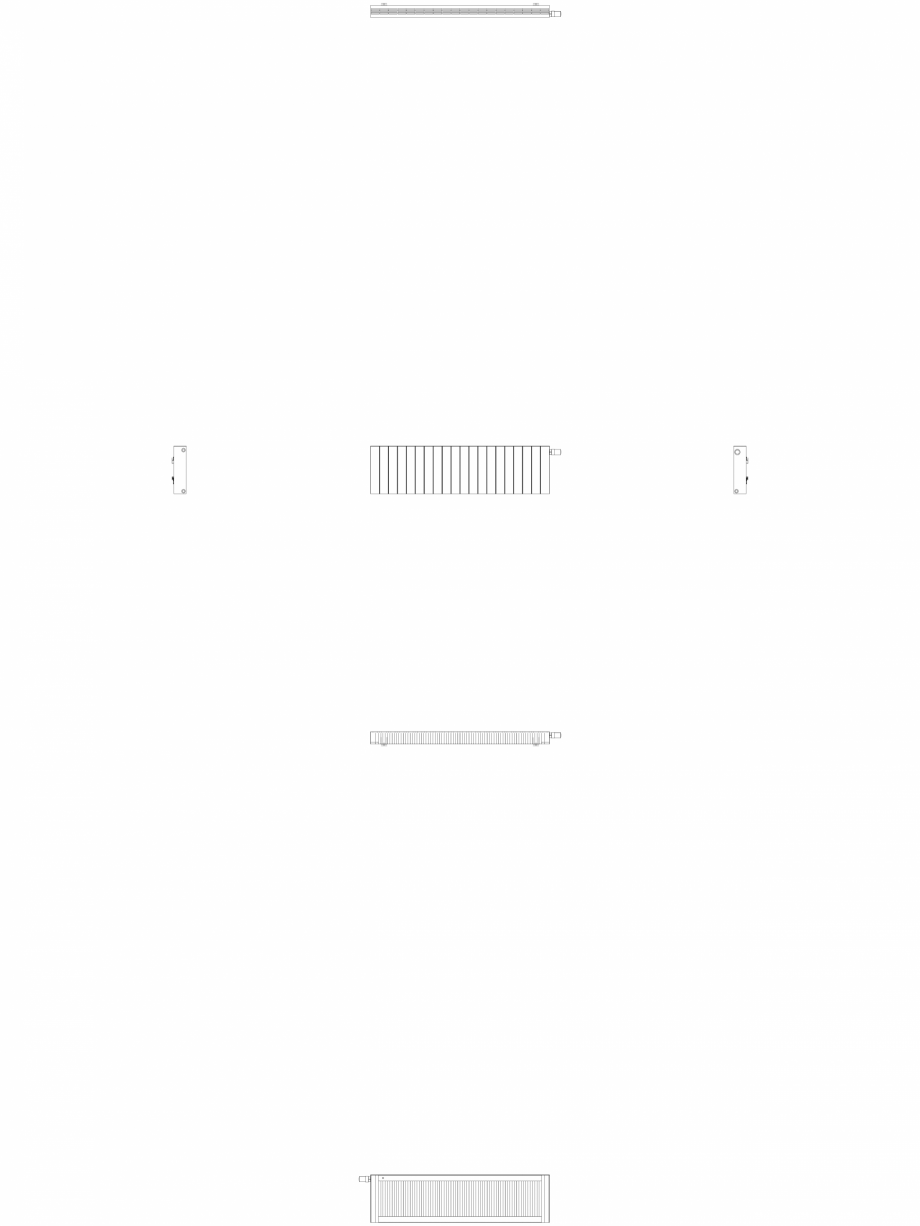 Pagina 1 - CAD-DWG Calorifer decorativ ZAROS H100 400x1500 - 2D VASCO Detaliu de produs