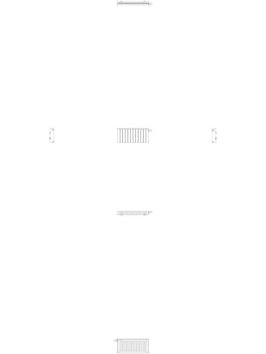 Pagina 1 - CAD-DWG Calorifer decorativ ZAROS H100 400x900 - 2D VASCO Detaliu de produs