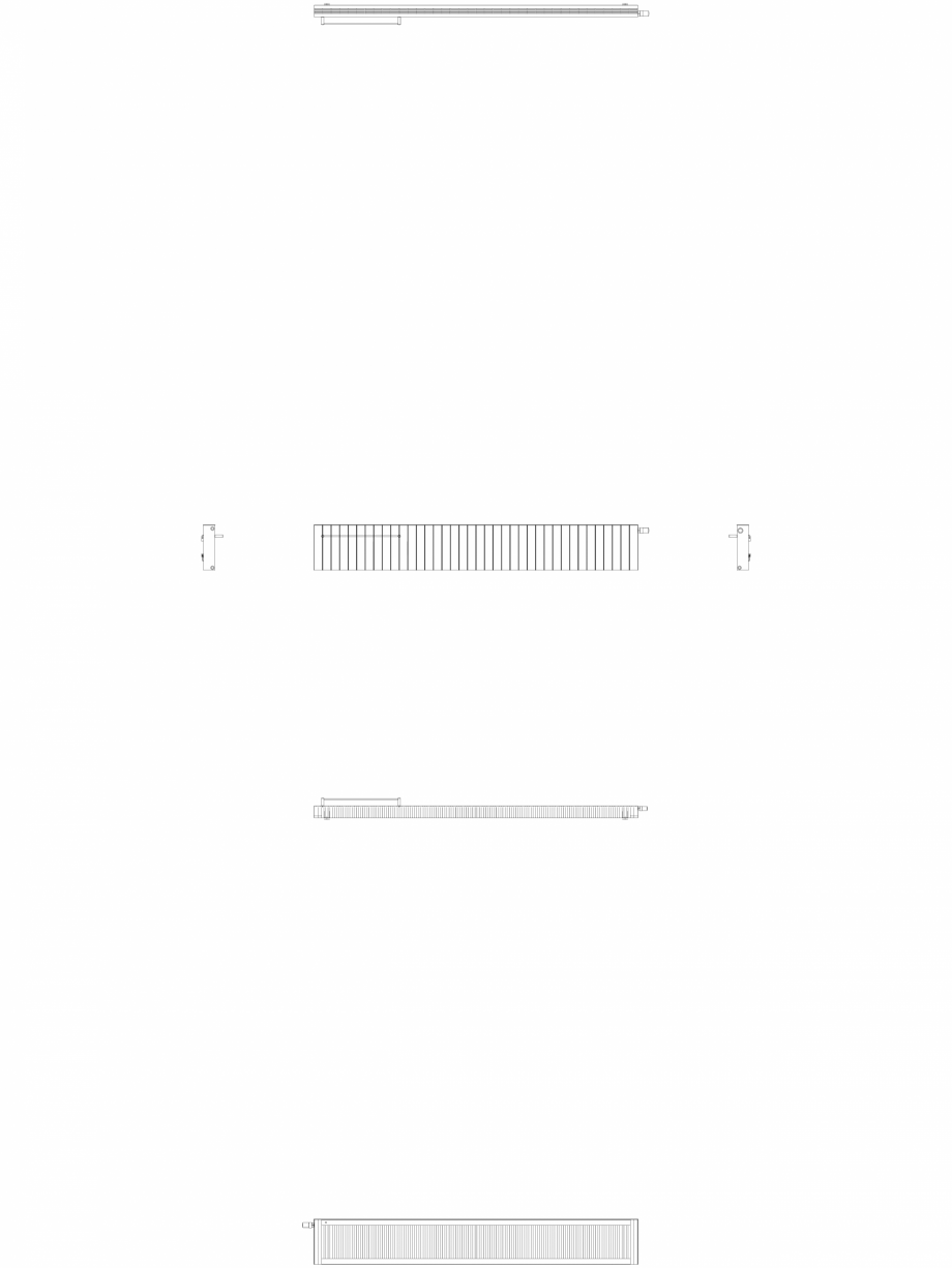 Pagina 1 - CAD-DWG Calorifer decorativ ZAROS H100 400x2850 - 2D VASCO Detaliu de produs