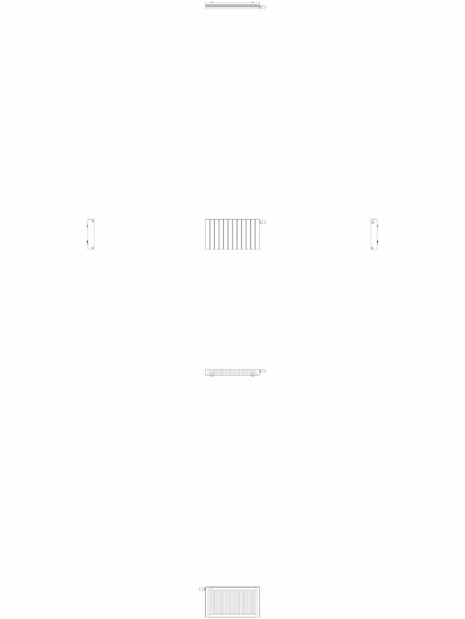 Pagina 1 - CAD-DWG Calorifer decorativ ZAROS H100 500x900 - 2D VASCO Detaliu de produs