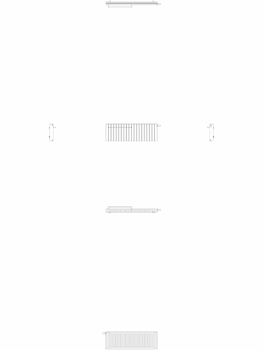 Pagina 1 - CAD-DWG Calorifer decorativ ZAROS H100 500x1500 - 2D VASCO Detaliu de produs