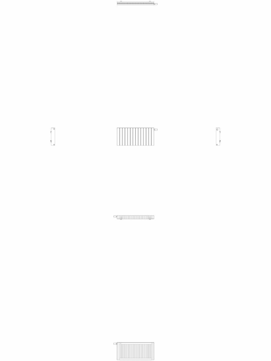 Pagina 1 - CAD-DWG Calorifer decorativ ZAROS H100 500x1050 - 2D VASCO Detaliu de produs