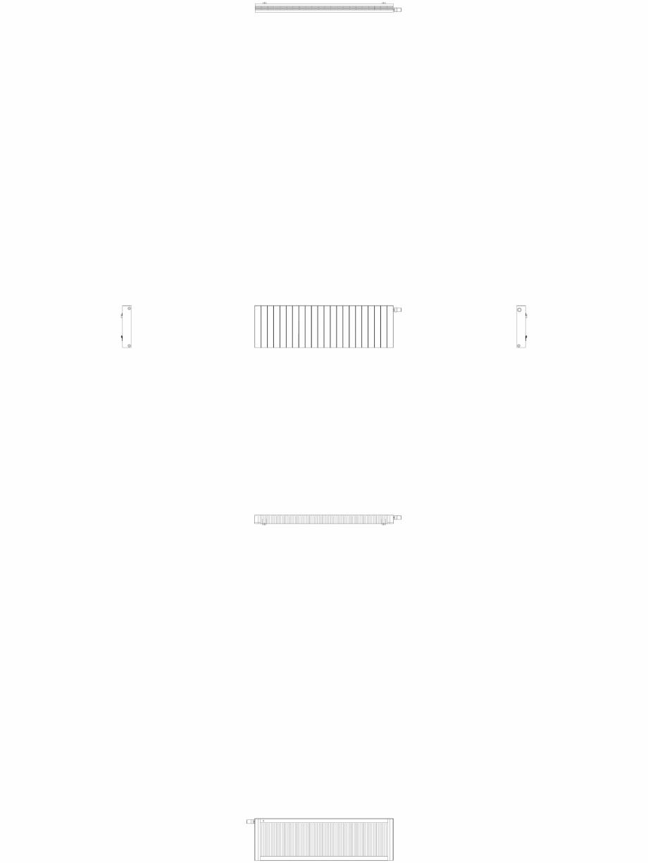 Pagina 1 - CAD-DWG Calorifer decorativ ZAROS H100 500x1650 - 2D VASCO Detaliu de produs