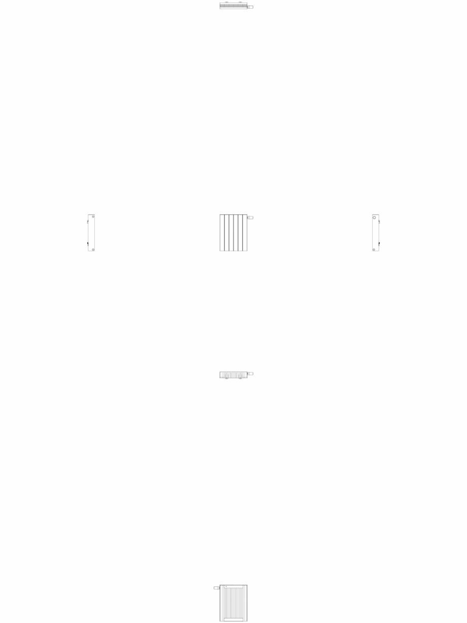 Pagina 1 - CAD-DWG Calorifer decorativ ZAROS H100 600x450 - 2D VASCO Detaliu de produs