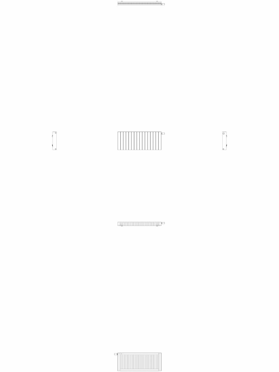 Pagina 1 - CAD-DWG Calorifer decorativ ZAROS H100 500x1200 - 2D VASCO Detaliu de produs
