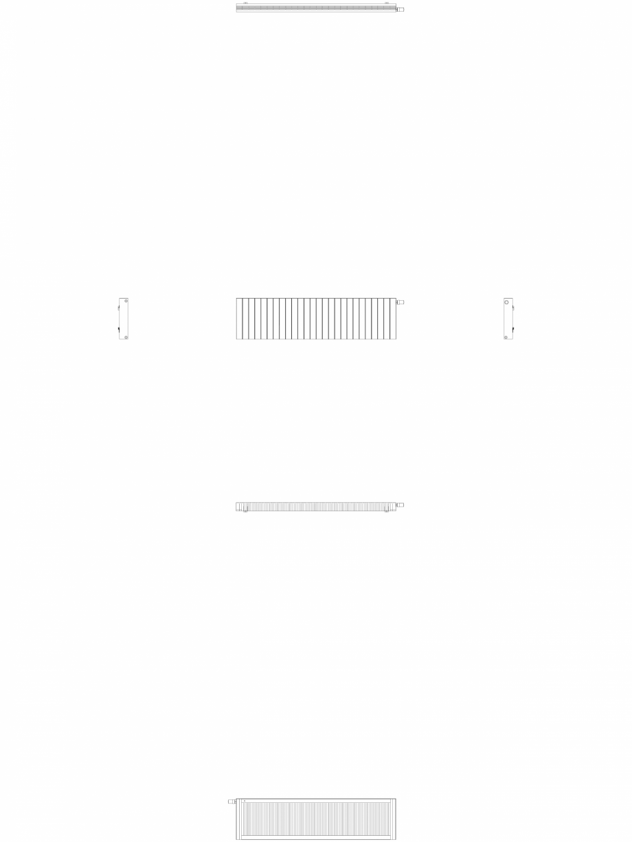 Pagina 1 - CAD-DWG Calorifer decorativ ZAROS H100 500x1950 - 2D VASCO Detaliu de produs