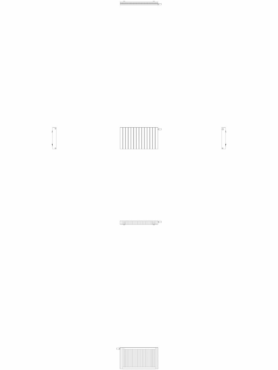 Pagina 1 - CAD-DWG Calorifer decorativ ZAROS H100 600x1050 - 2D VASCO Detaliu de produs