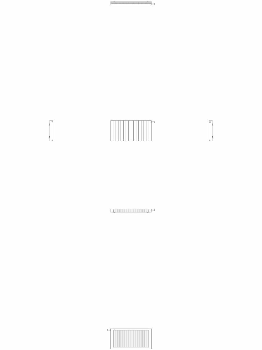 Pagina 1 - CAD-DWG Calorifer decorativ ZAROS H100 600x1200 - 2D VASCO Detaliu de produs
