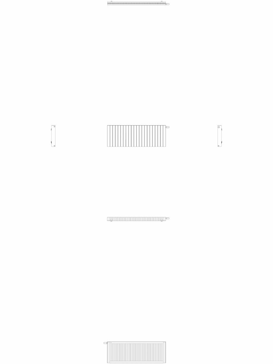 Pagina 1 - CAD-DWG Calorifer decorativ ZAROS H100 600x1650 - 2D VASCO Detaliu de produs