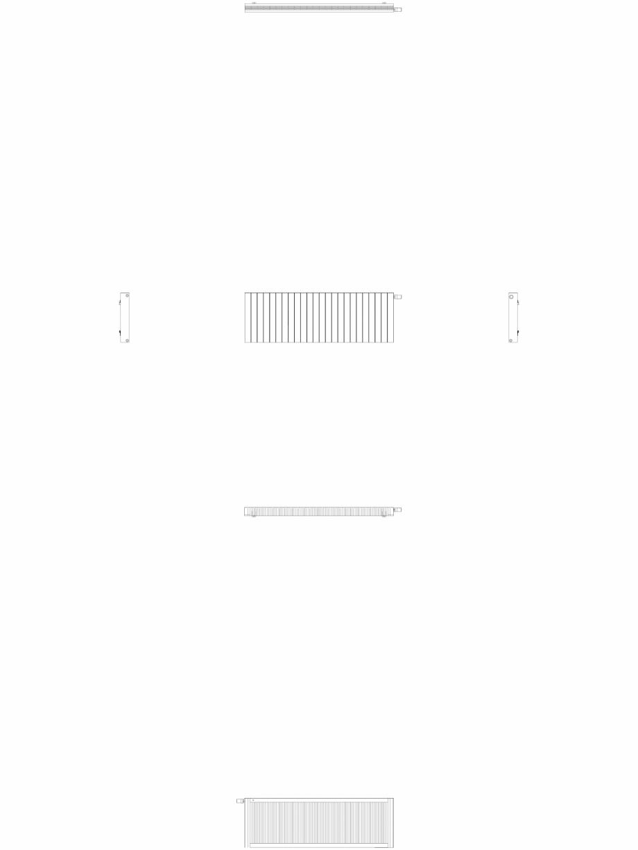 Pagina 1 - CAD-DWG Calorifer decorativ ZAROS H100 600x1800 - 2D VASCO Detaliu de produs