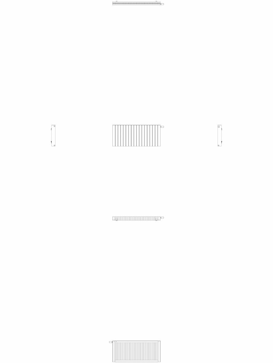 Pagina 1 - CAD-DWG Calorifer decorativ ZAROS H100 600x1350 - 2D VASCO Detaliu de produs