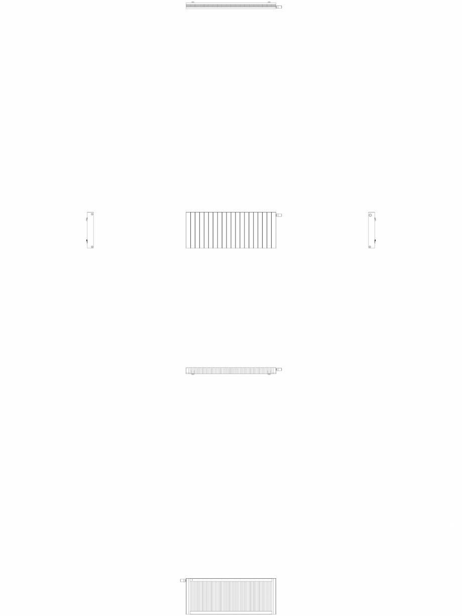 Pagina 1 - CAD-DWG Calorifer decorativ ZAROS H100 600x1500 - 2D VASCO Detaliu de produs