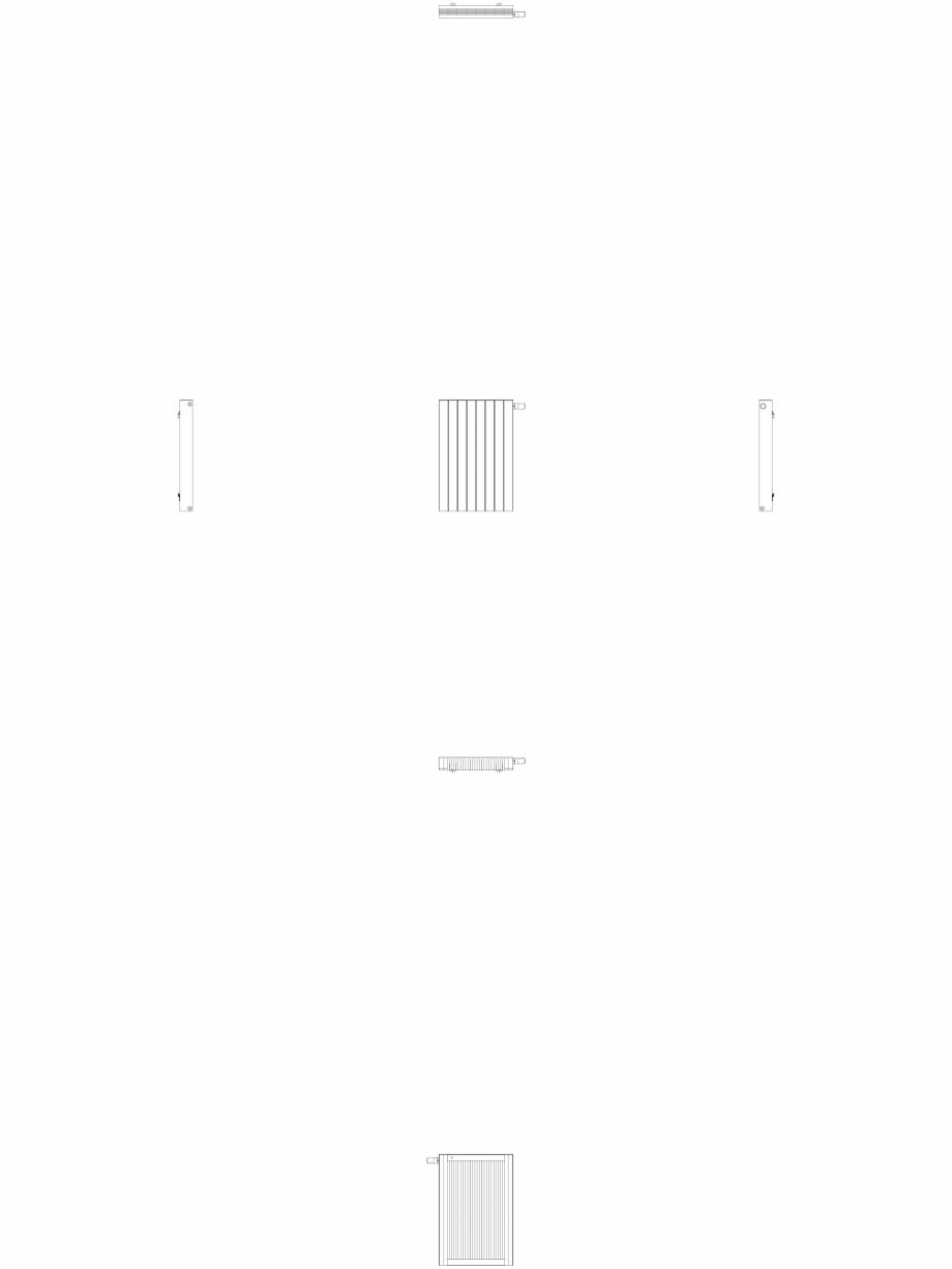 Pagina 1 - CAD-DWG Calorifer decorativ ZAROS H100 900x600 - 2D VASCO Detaliu de produs
