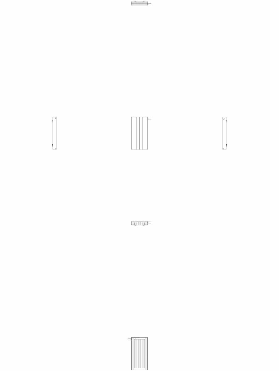 Pagina 1 - CAD-DWG Calorifer decorativ ZAROS H100 900x450 - 2D VASCO Detaliu de produs