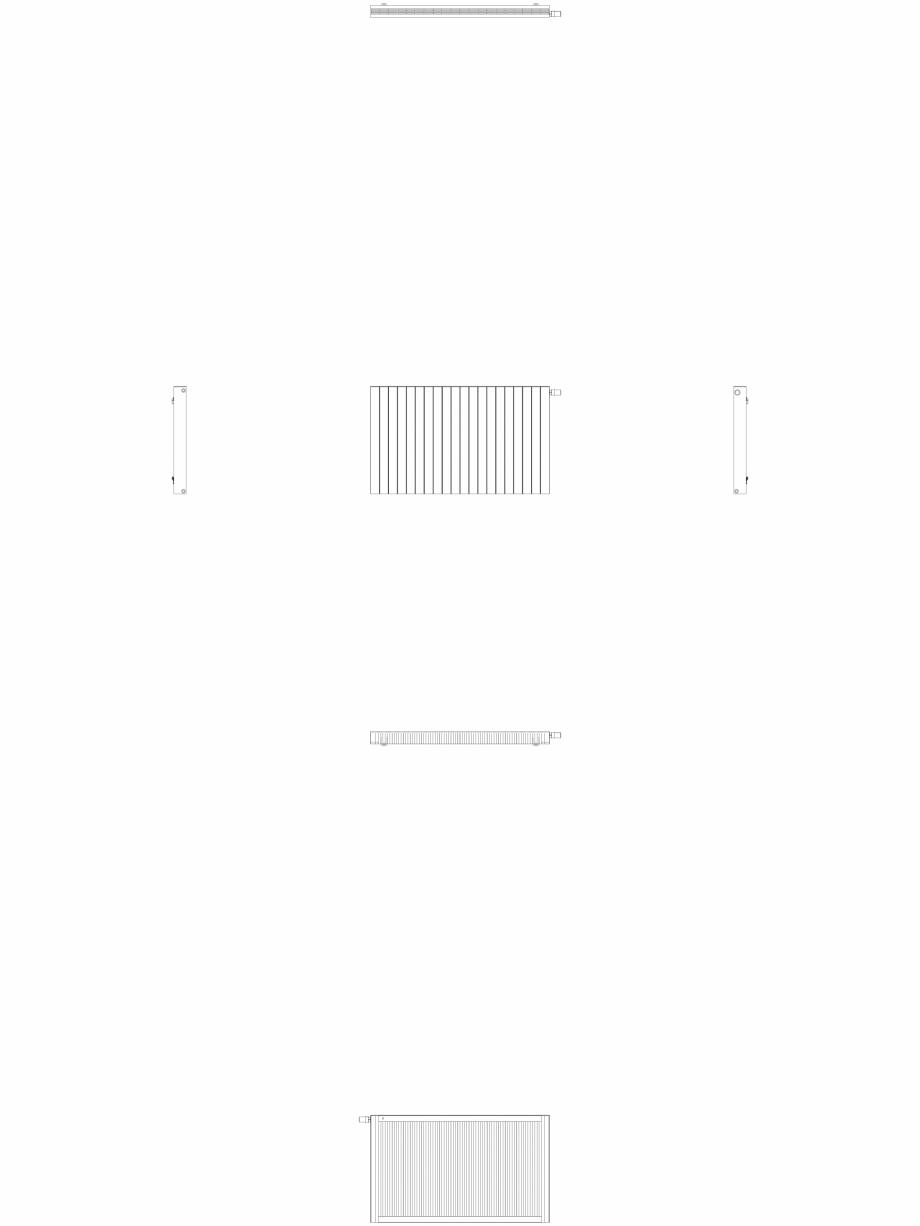 Pagina 1 - CAD-DWG Calorifer decorativ ZAROS H100 900x1500 - 2D VASCO Detaliu de produs