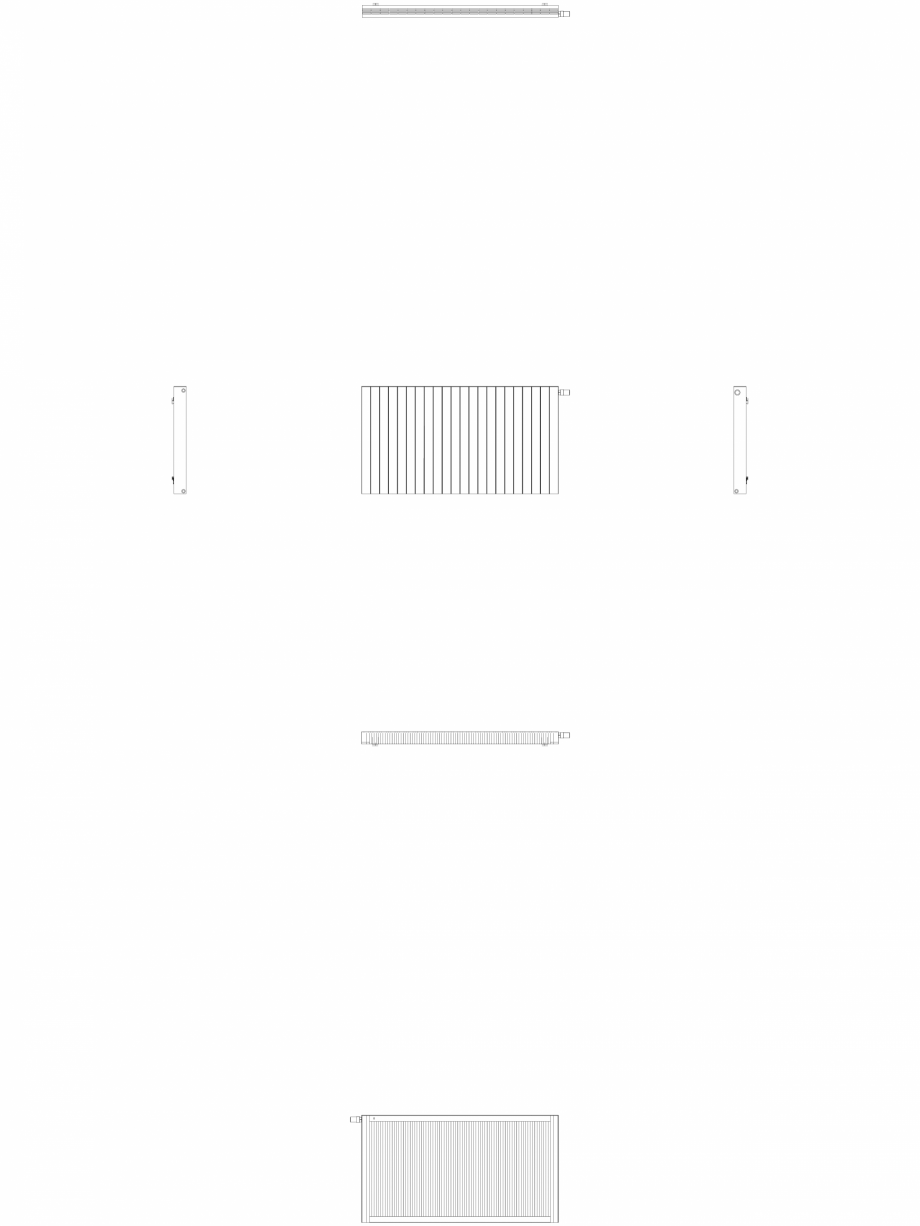 Pagina 1 - CAD-DWG Calorifer decorativ ZAROS H100 900x1650 - 2D VASCO Detaliu de produs