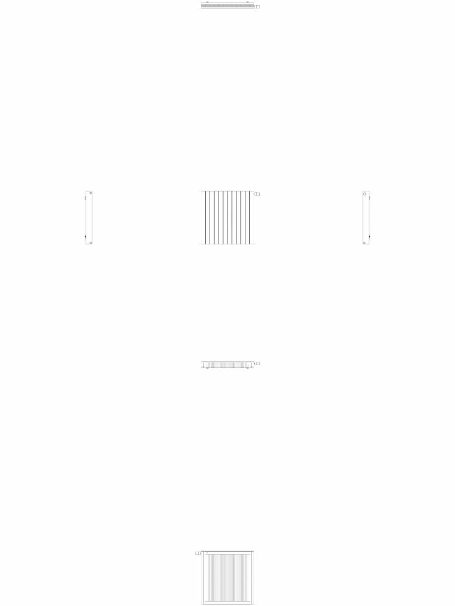 Pagina 1 - CAD-DWG Calorifer decorativ ZAROS H100 900x900 - 2D VASCO Detaliu de produs