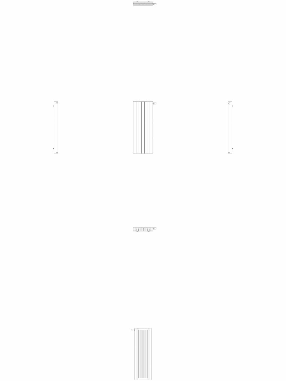 Pagina 1 - CAD-DWG Calorifer decorativ ZAROS H100 1400x525 - 2D VASCO Detaliu de produs