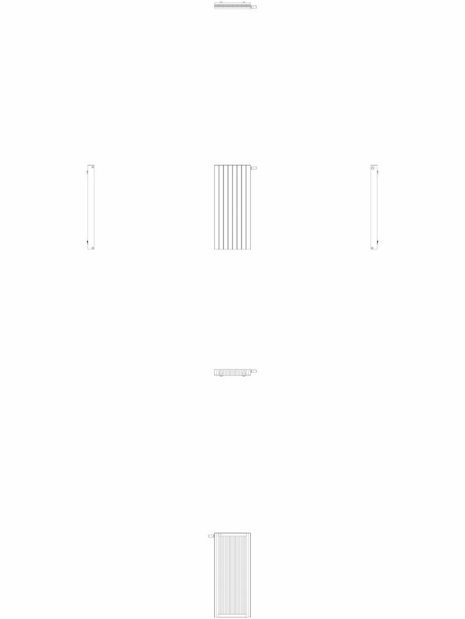 Pagina 1 - CAD-DWG Calorifer decorativ ZAROS H100 1400x600 - 2D VASCO Detaliu de produs