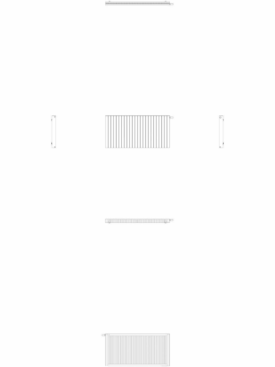 Pagina 1 - CAD-DWG Calorifer decorativ ZAROS H100 900x1800 - 2D VASCO Detaliu de produs
