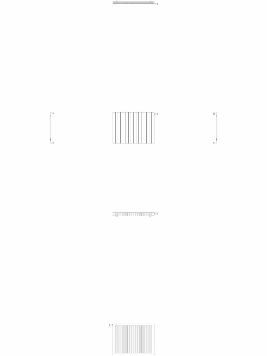 Pagina 1 - CAD-DWG Calorifer decorativ ZAROS H100 900x1200 - 2D VASCO Detaliu de produs