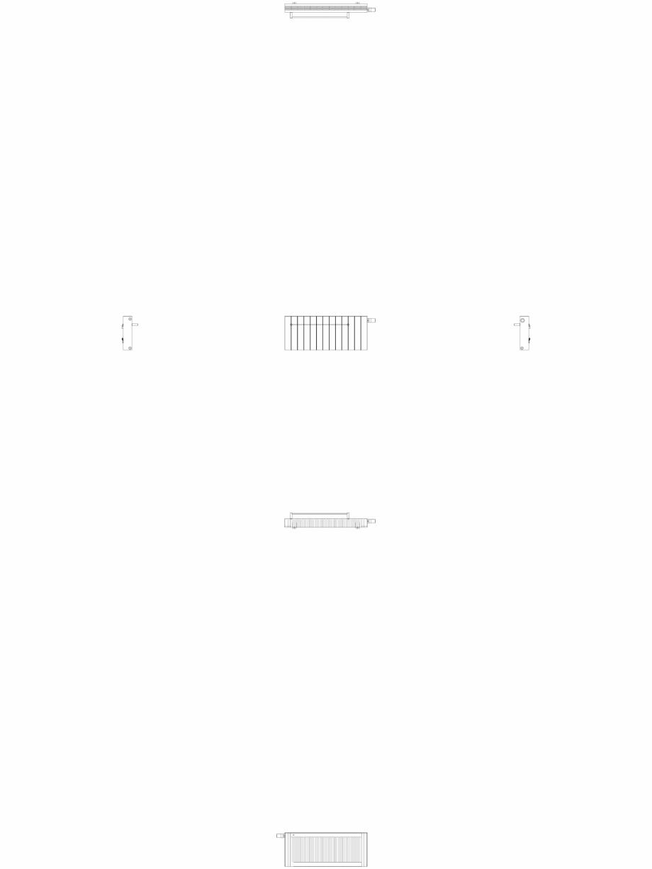 Pagina 1 - CAD-DWG Calorifer decorativ ZAROS H100 400x975 - 2D VASCO Detaliu de produs