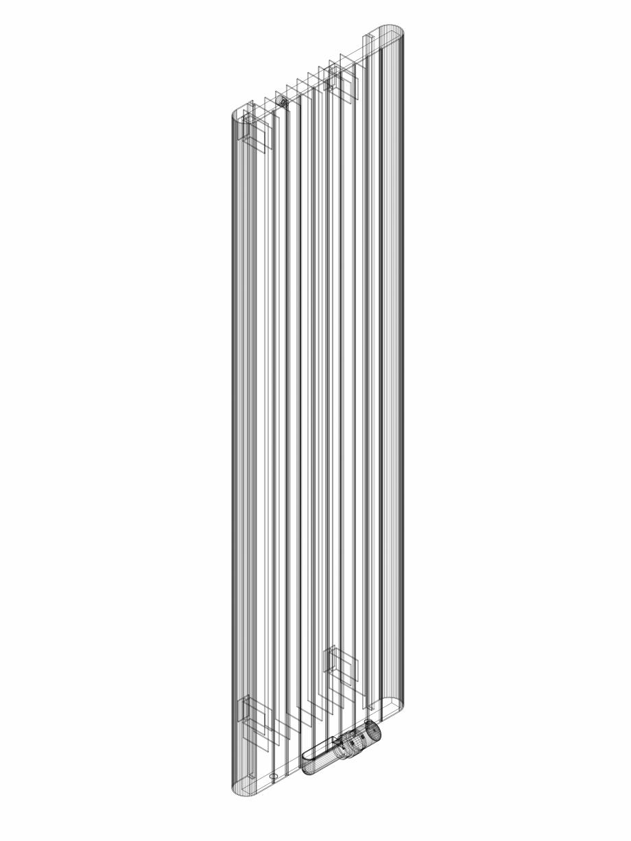 Pagina 1 - CAD-DWG Calorifer decorativ ALU-ZEN 1600x450 - 3D VASCO Detaliu de produs