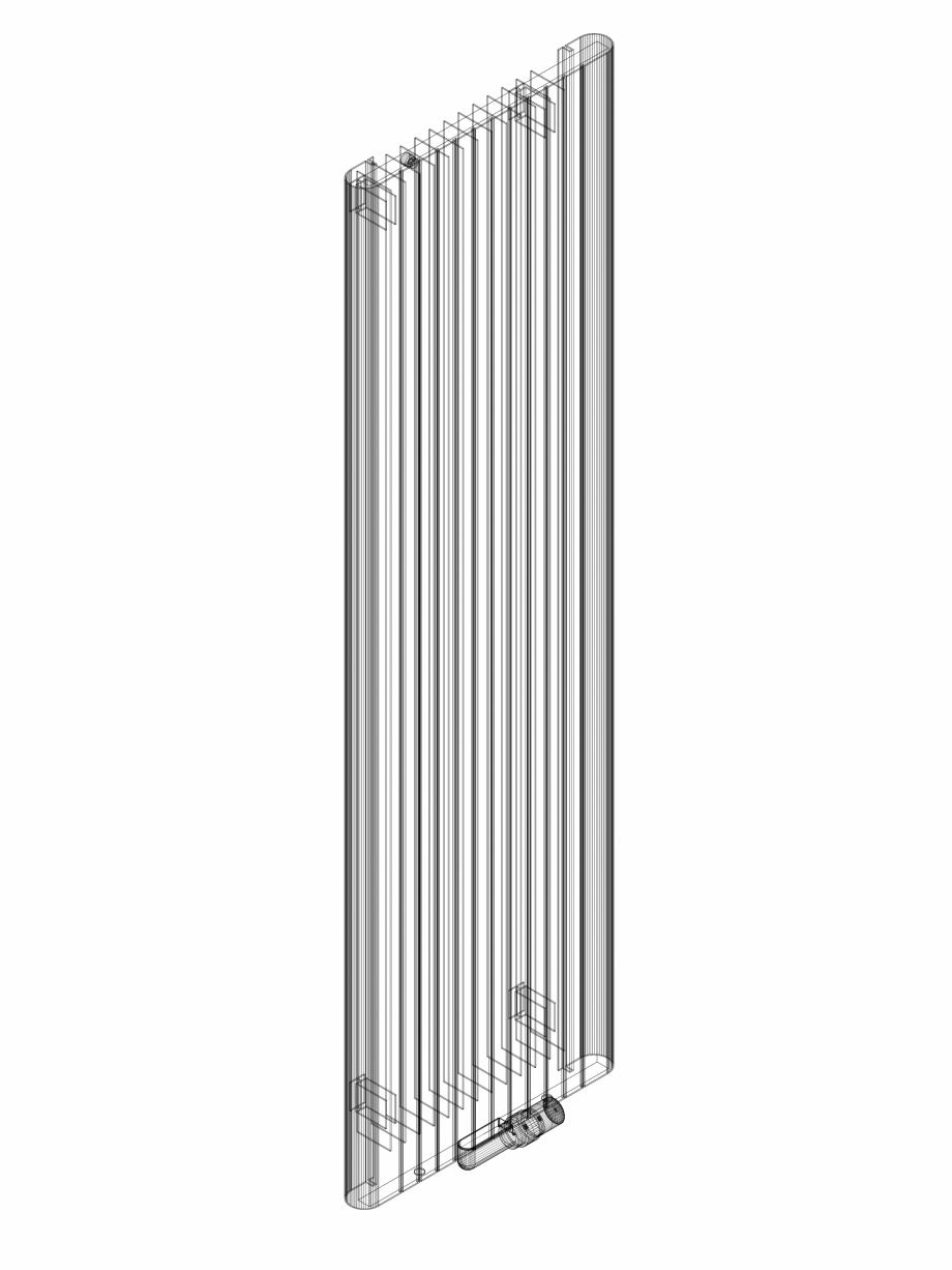 Pagina 1 - CAD-DWG Calorifer decorativ ALU-ZEN 1800x525 - 3D VASCO Detaliu de produs