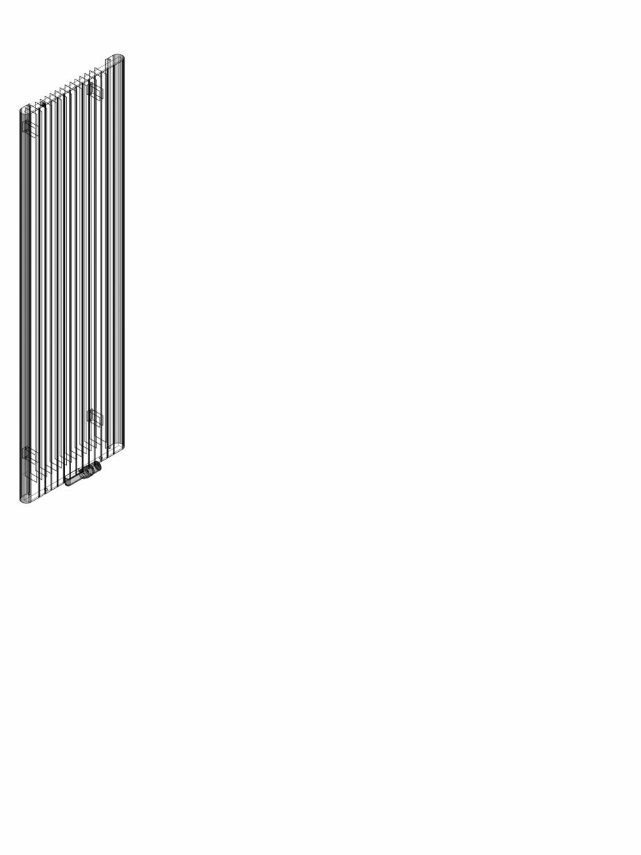 Pagina 1 - CAD-DWG Calorifer decorativ ALU-ZEN 2000x600 - 3D VASCO Detaliu de produs
