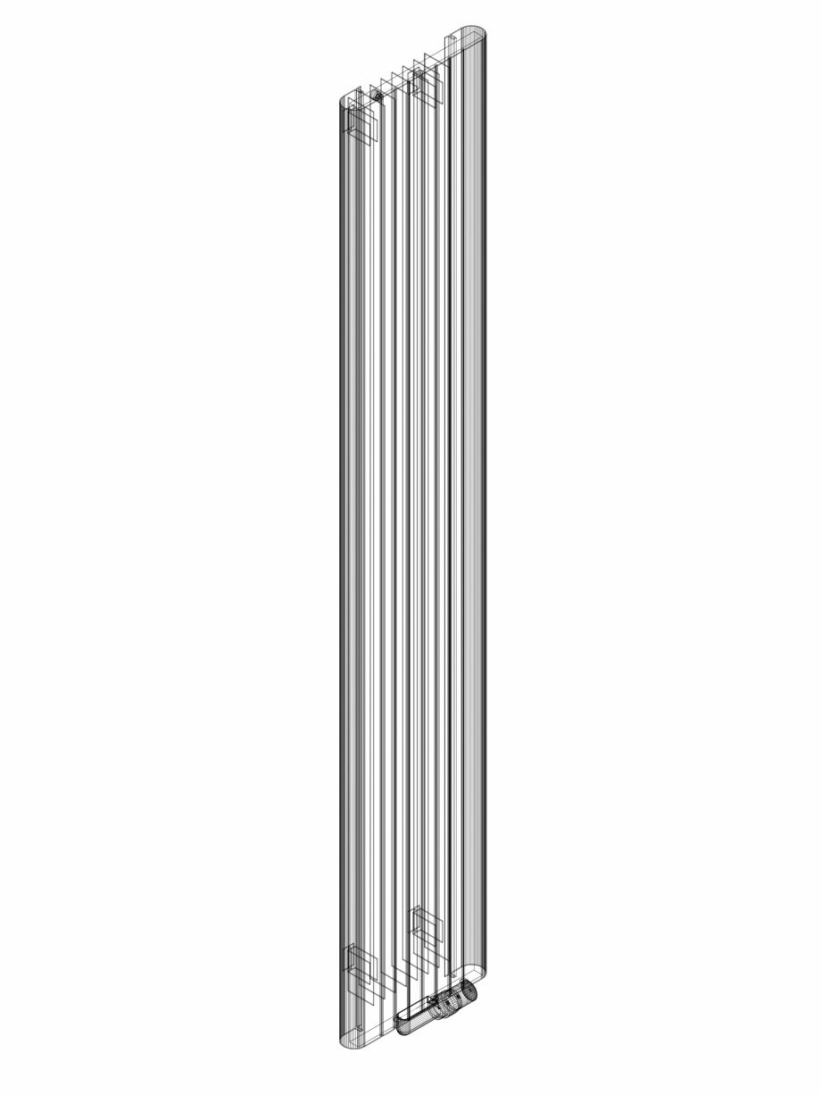 Pagina 1 - CAD-DWG Calorifer decorativ ALU-ZEN 2200x375 - 3D VASCO Detaliu de produs