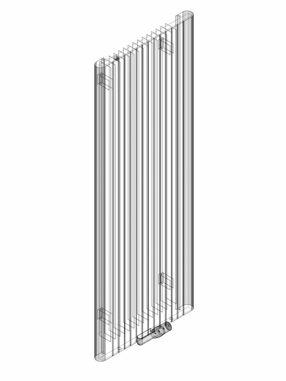 Pagina 1 - CAD-DWG Calorifer decorativ ALU-ZEN 1600x600 - 3D VASCO Detaliu de produs