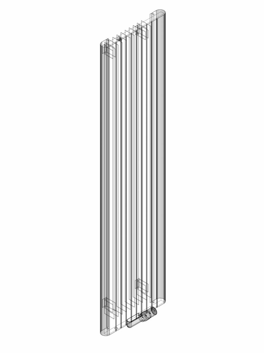 Pagina 1 - CAD-DWG Calorifer decorativ ALU-ZEN 1800x450 - 3D VASCO Detaliu de produs