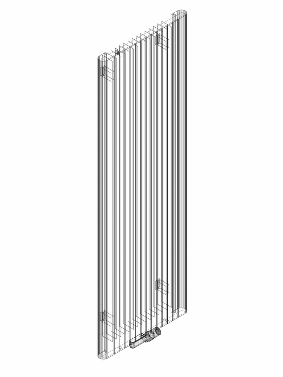 Pagina 1 - CAD-DWG Calorifer decorativ ALU-ZEN 1800x600 - 3D VASCO Detaliu de produs