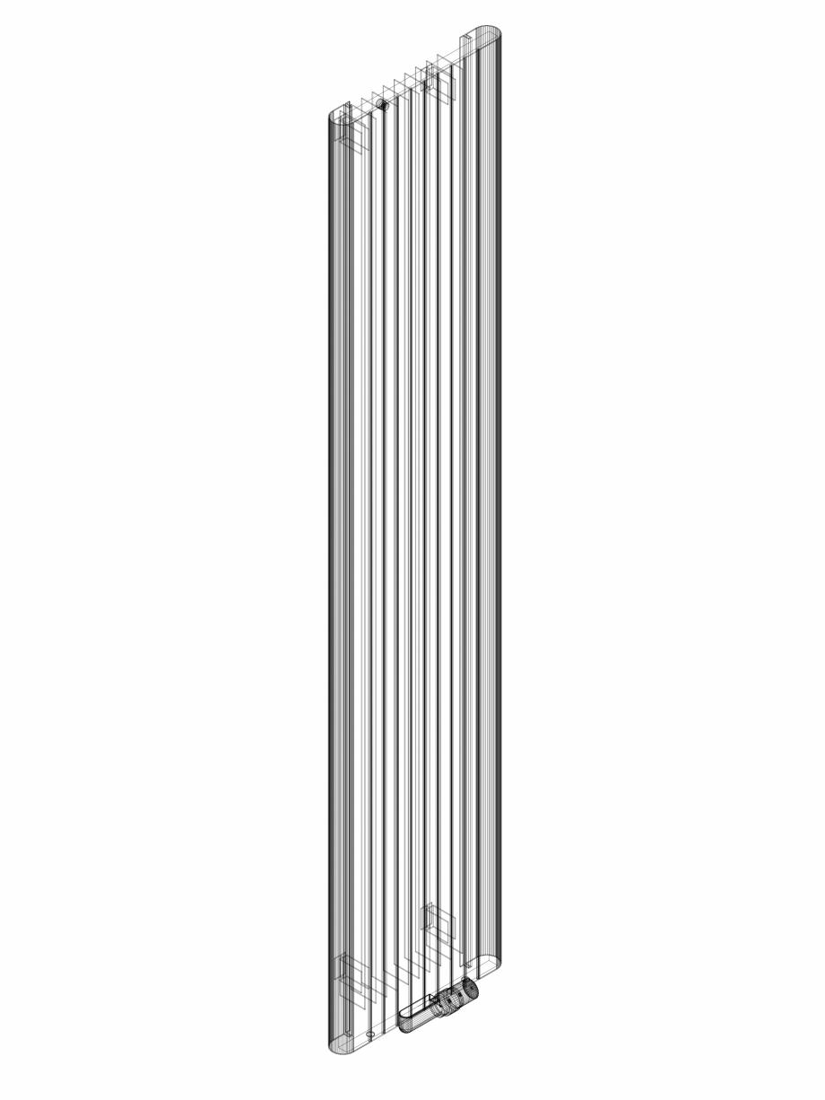 Pagina 1 - CAD-DWG Calorifer decorativ ALU-ZEN 2200x450 - 3D VASCO Detaliu de produs