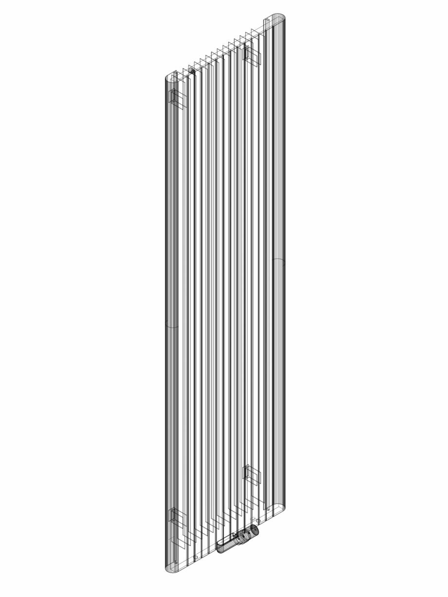 Pagina 1 - CAD-DWG Calorifer decorativ ALU-ZEN 2200x600 - 3D VASCO Detaliu de produs
