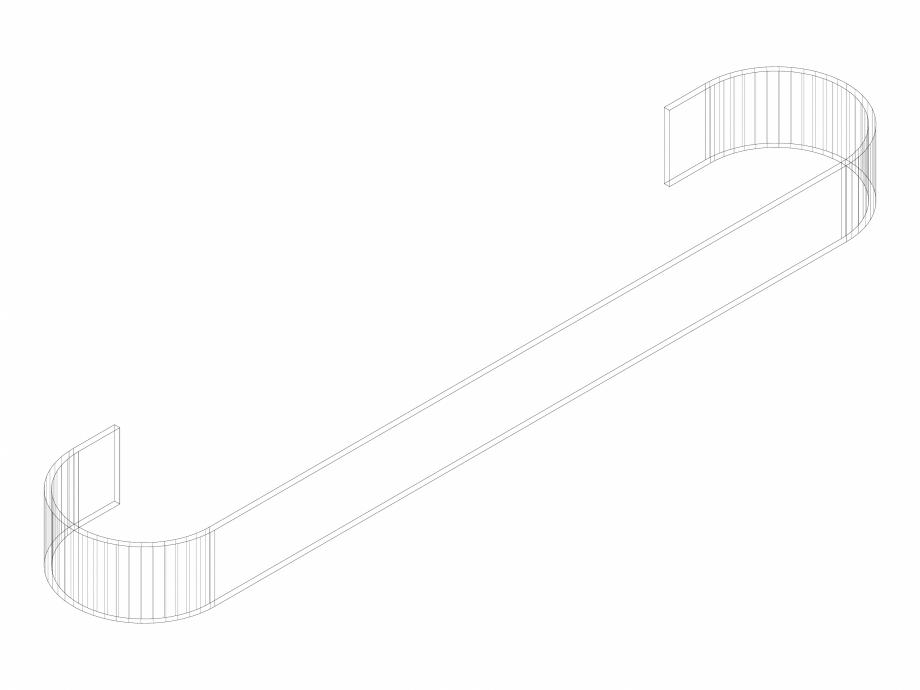 Pagina 1 - CAD-DWG Accesoriu prosop ALU-ZEN 525 - 3D VASCO Detaliu de produs