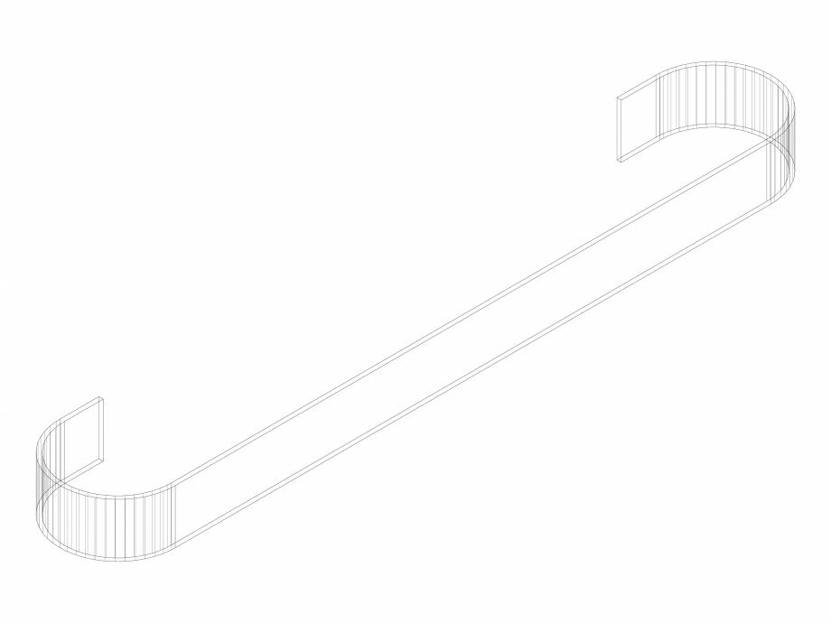 Pagina 1 - CAD-DWG Accesoriu prosop ALU-ZEN 600 - 3D VASCO Detaliu de produs
