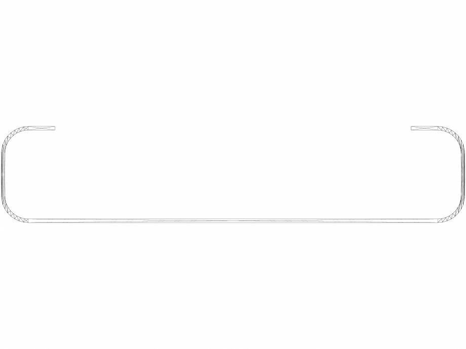 Pagina 1 - CAD-DWG Accesoriu prosop BRYCE BV100 455 - 3D VASCO Detaliu de produs BRYCE VERTICAL