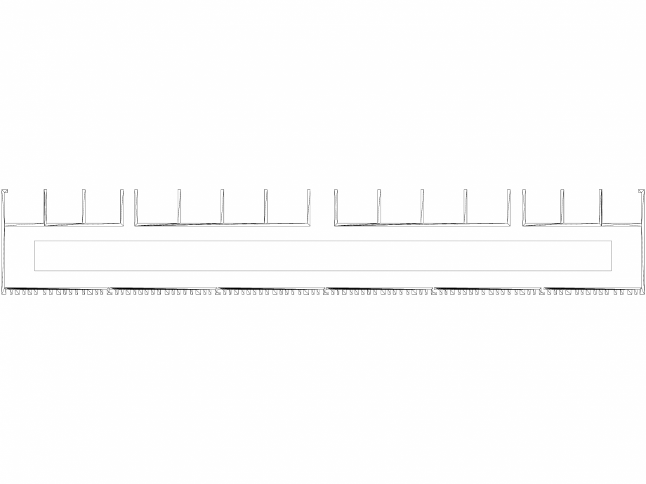 Pagina 1 - CAD-DWG Calorifer decorativ BRYCE PLUS 1600x450 - 3D VASCO Detaliu de produs BRYCE...
