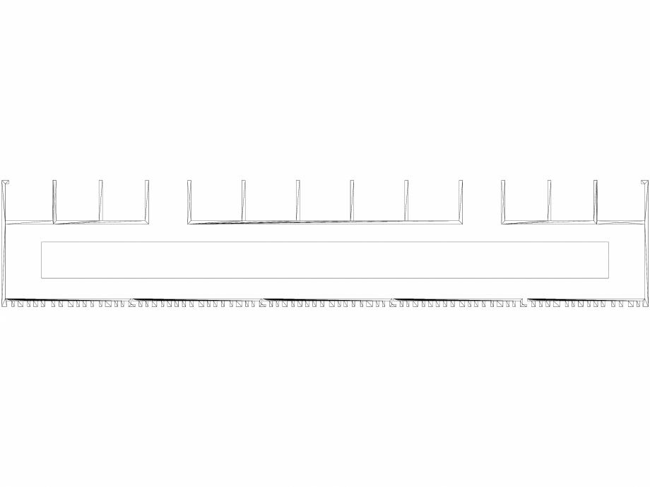 Pagina 1 - CAD-DWG Calorifer decorativ BRYCE PLUS 1600x375 - 3D VASCO Detaliu de produs BRYCE...