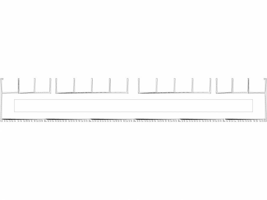 Pagina 1 - CAD-DWG Calorifer decorativ BRYCE PLUS 2200x450 - 3D VASCO Detaliu de produs BRYCE...