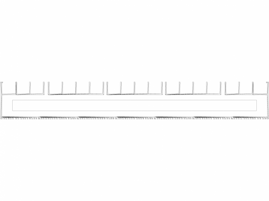 Pagina 1 - CAD-DWG Calorifer decorativ BRYCE PLUS 2200x525 - 3D VASCO Detaliu de produs BRYCE...