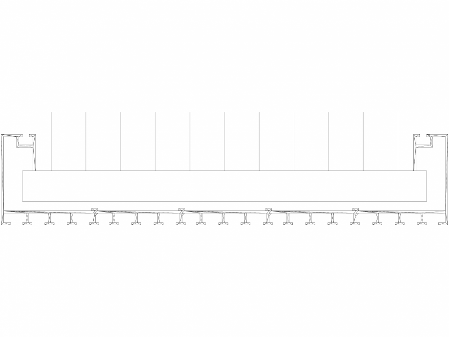 Pagina 1 - CAD-DWG Calorifer decorativ CANYON 2000x380 - 3D VASCO Detaliu de produs