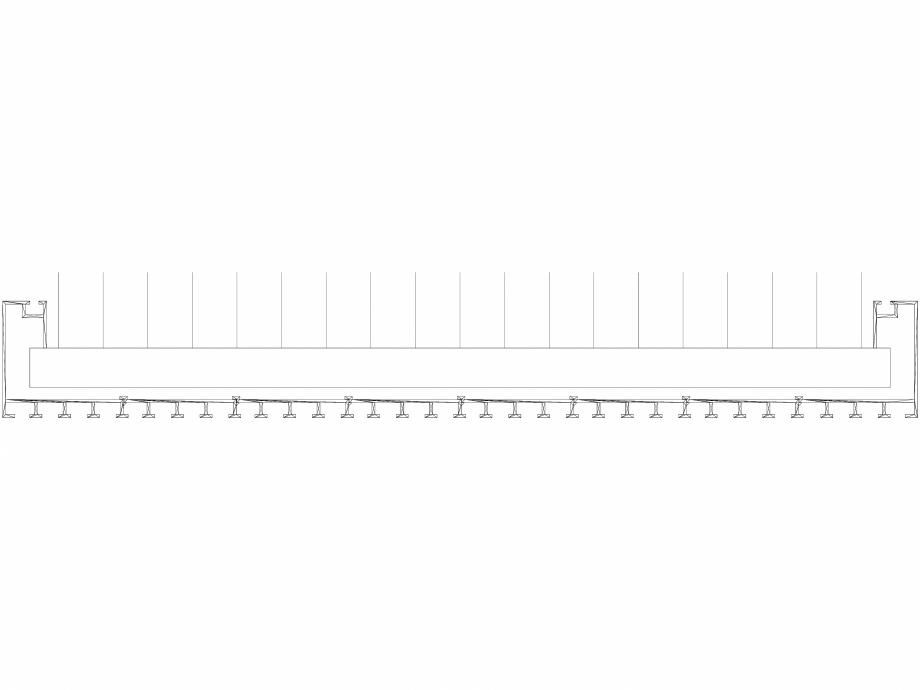 Pagina 1 - CAD-DWG Calorifer decorativ CANYON 2200x605 - 3D VASCO Detaliu de produs