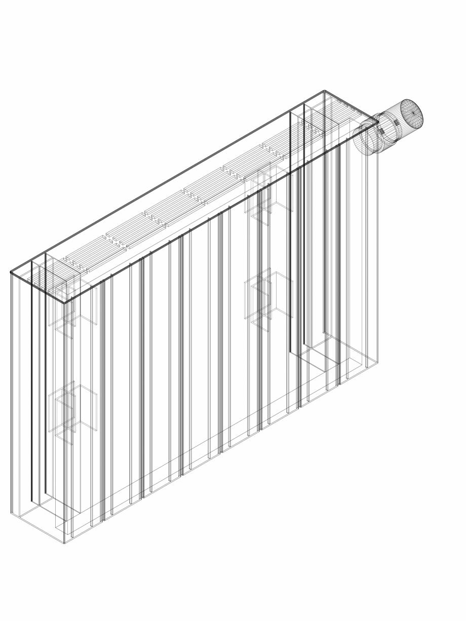 Pagina 1 - CAD-DWG Calorifer decorativ ZAROS H100 400x600 - 3D VASCO Detaliu de produs
