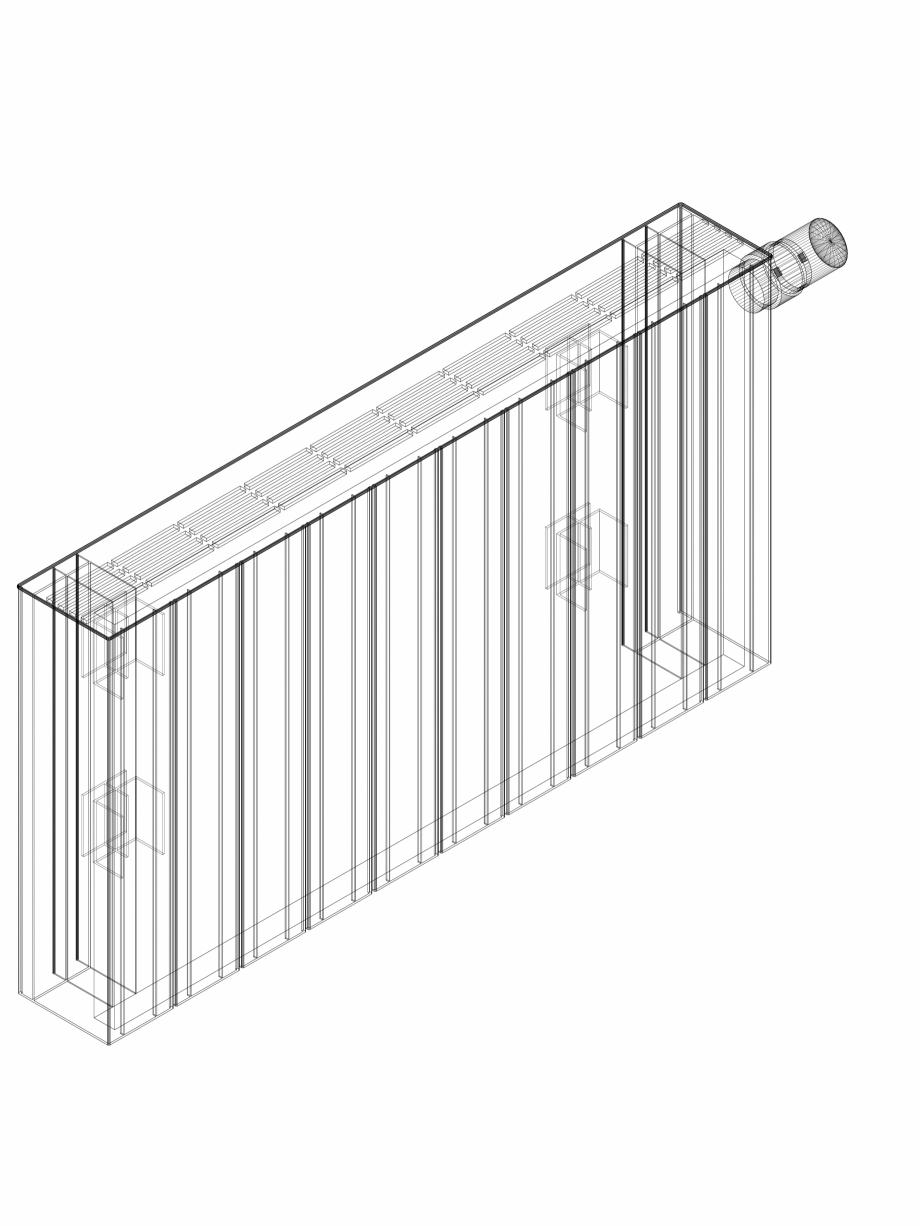 Pagina 1 - CAD-DWG Calorifer decorativ ZAROS H100 400x750 - 3D VASCO Detaliu de produs