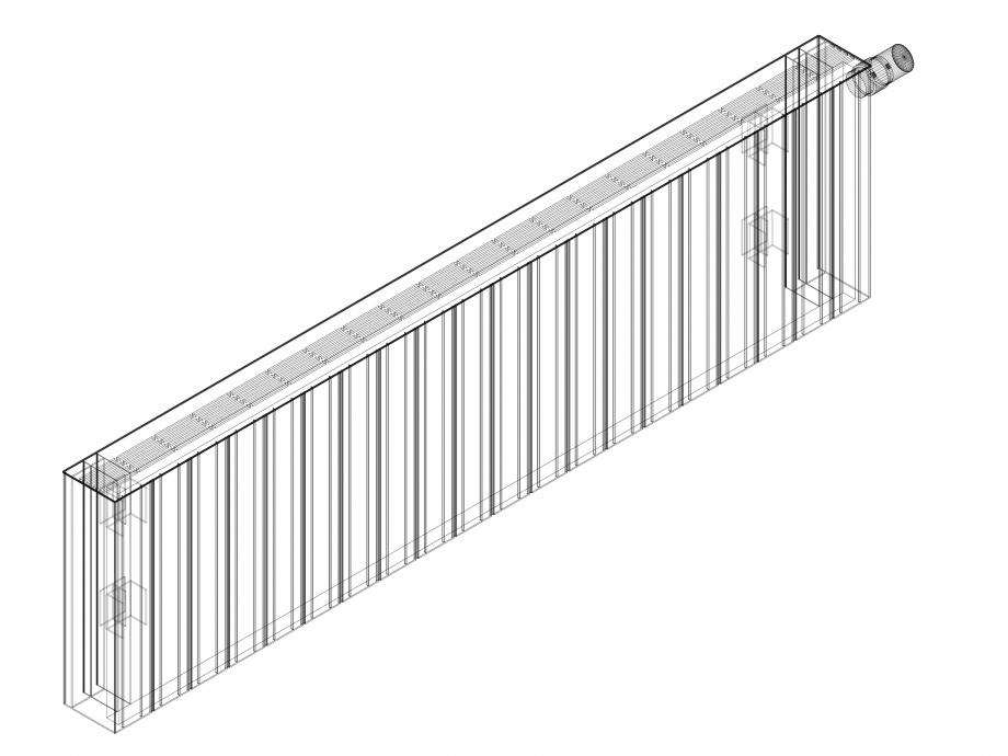 Pagina 1 - CAD-DWG Calorifer decorativ ZAROS H100 400x1500 - 3D VASCO Detaliu de produs