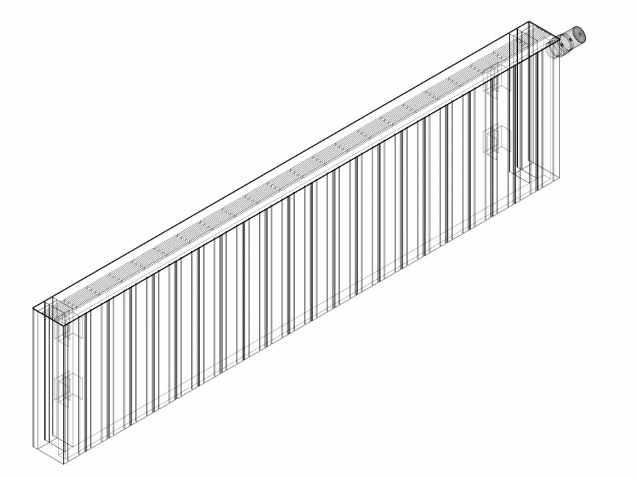 Pagina 1 - CAD-DWG Calorifer decorativ ZAROS H100 400x1650 - 3D VASCO Detaliu de produs