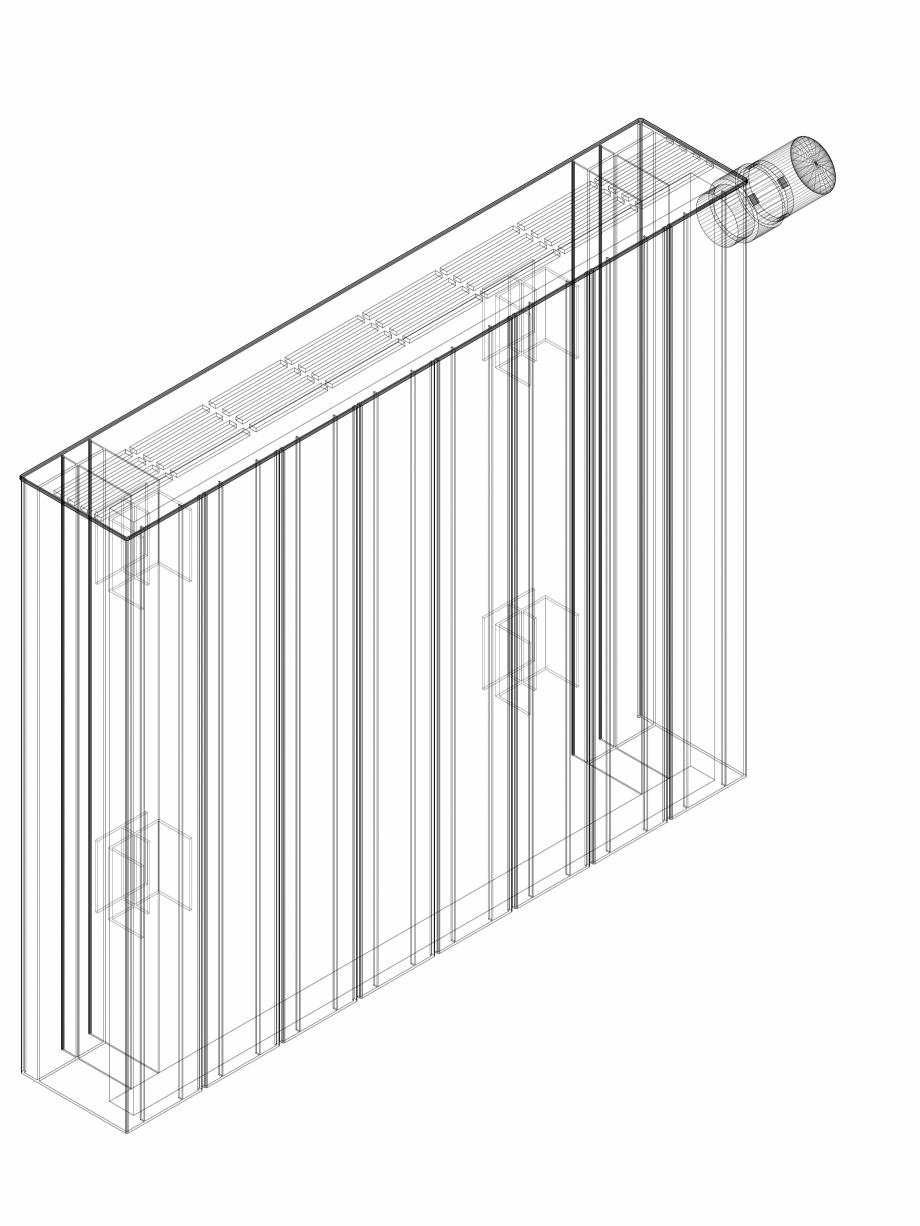 Pagina 1 - CAD-DWG Calorifer decorativ ZAROS H100 500x600 - 3D VASCO Detaliu de produs