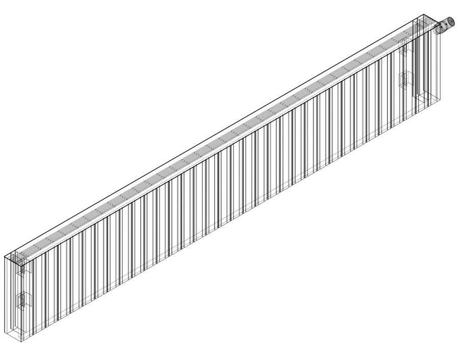 Pagina 1 - CAD-DWG Calorifer decorativ ZAROS H100 400x2550 - 3D VASCO Detaliu de produs